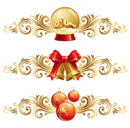 bell: Christmas design elements & holiday symbols - vector illustration