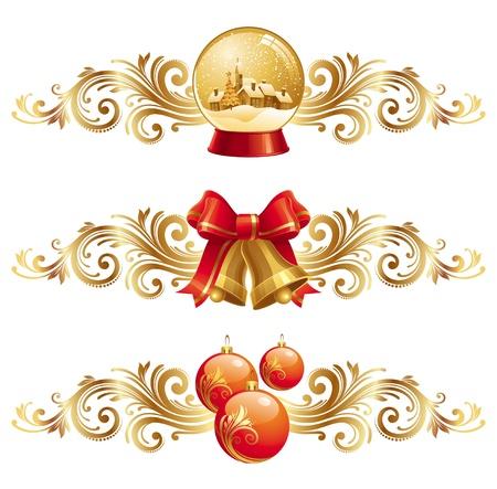 Kerst design elementen en vakantie symbolen - vector illustratie