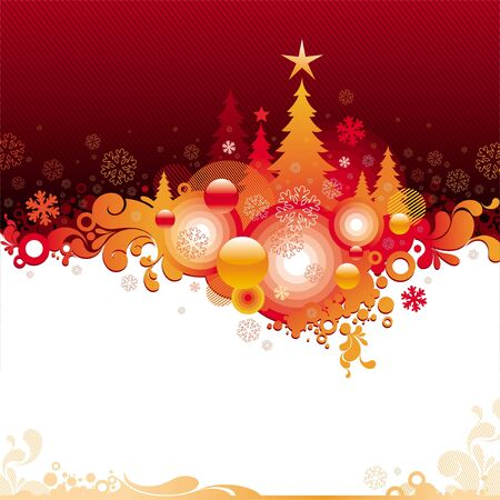 snowing: Abstract vector Christmas illustration Illustration