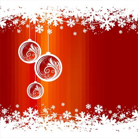 Christmas toys & snowflakes - vector illustration Vector