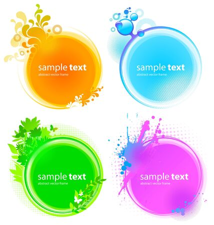 Vector Colorful round vector frames Vector