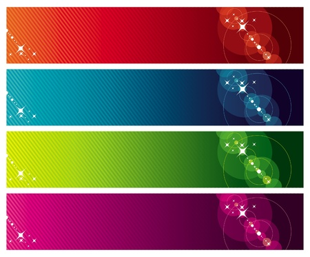 Vector abstract banners Vector