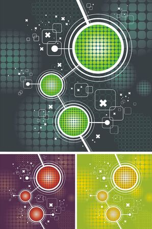 hape: Vector abstract futuristic background