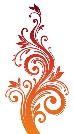 decorative: Vector ornamental floral branch Illustration