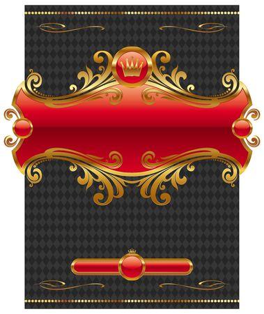 heading the ball: Vector design with ornate golden frame