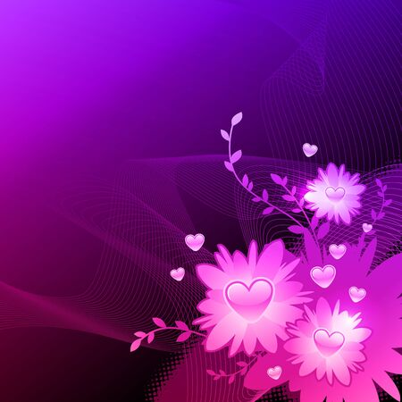Vector valentines illustration with floral heart Stock Vector - 9903041
