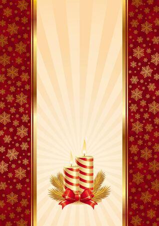 velas de navidad: Fondo de vector con velas de Navidad Vectores