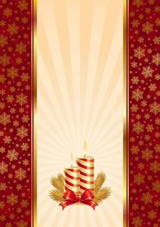 Vector Background with Christmas candles Illustration