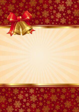 campanas navidad: Fondo de vector con campanas de mano de Navidad