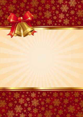 Vector Background with christmas hand bells Vector
