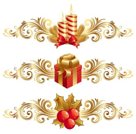 Vektor weihnachten Zeichen & ornament