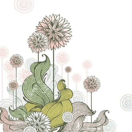 inflorescência: Floral hand drawn vector illustration Ilustra��o