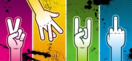 Vector illustration - hand sign Vector