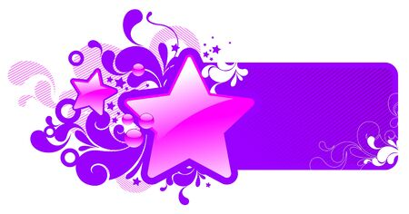 Vector frame with glossy stars Stock Vector - 9903052