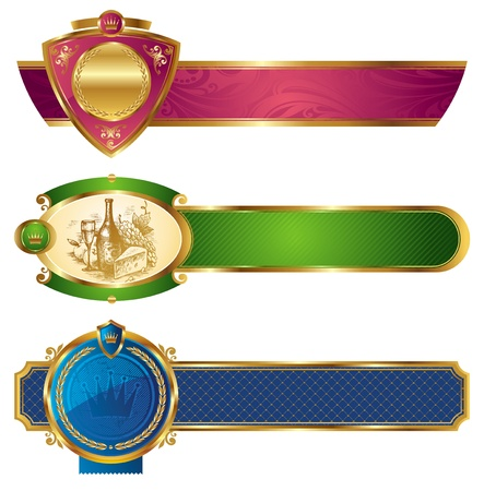 nobility: Framed golden luxury vector banners