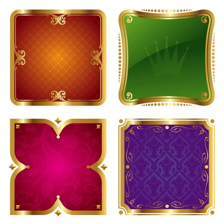 aristocratic: Golden vector ornate frames