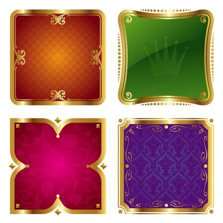 aristocrático: Marcos ornamentada de oro vector