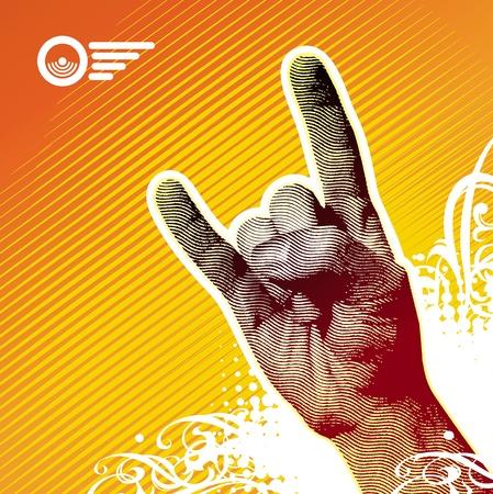 rock hand: Segno di metallo pesante mano - illustrazione vettoriale