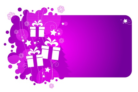 Vector frame  with holiday gifts Vector