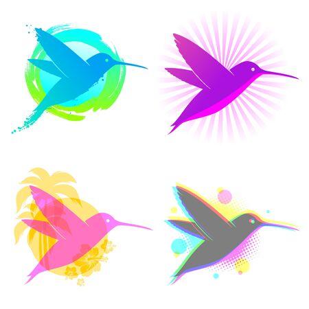 humming: Emblemas de vector de colibr� Vectores
