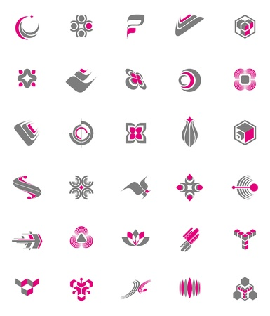 Vector set - abstract logos & icons Stock Vector - 9903164