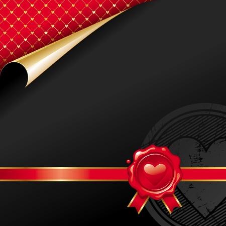 Luxus-Vektor-Design mit Valentines Wachssiegel