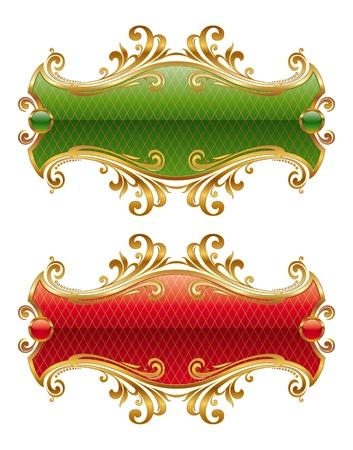gild: Cornice dorata vettoriale di lusso