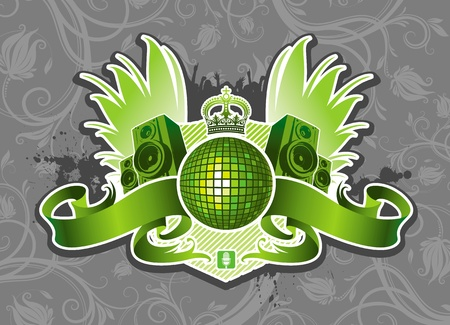 mirrorball: Vector music emblem