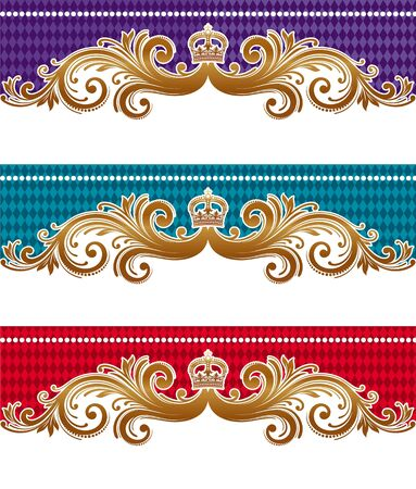 Ornamental royal vector design Vector