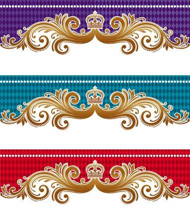 barocco: Ornamentale reale disegno vettoriale Vettoriali