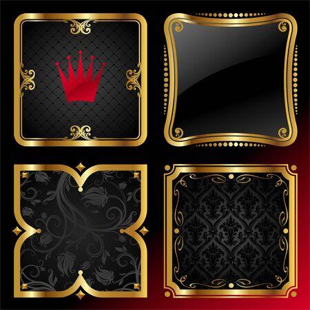 gilt: Ornate decorative golden vector frames