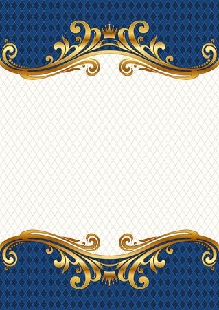Ornate golden vector frame