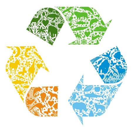 logo recyclage: Logo vectoriel recycl�