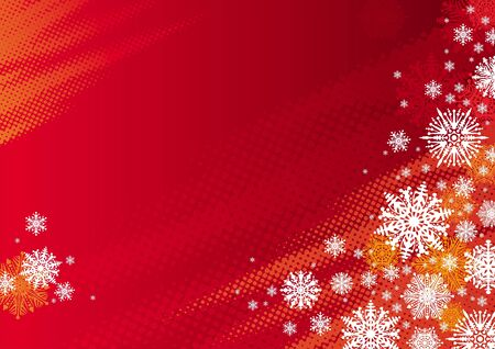 Red holidays vector background with snowflakes Vector