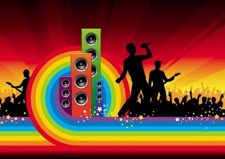Abstract vector background - concerto della rock band
