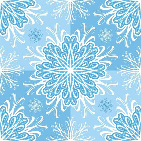 Seamless vector pattern with snowflakes Vector