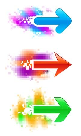 acute angle: Three vector arrows