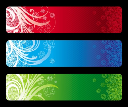 Three abstract vector Christmas banners Vector