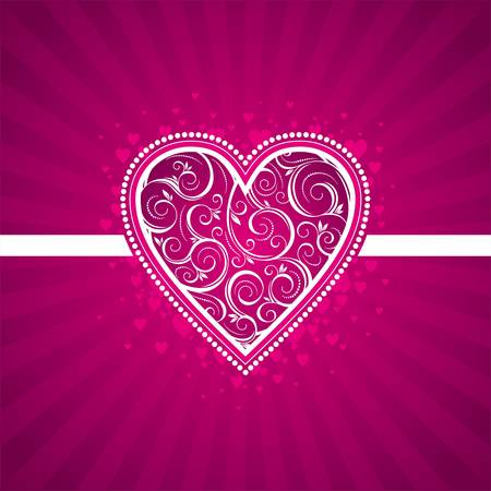 Valentine vector card with ornate heart Stock Vector - 9934961