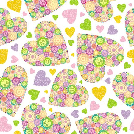 textile image: Valentines seamless vector background Illustration