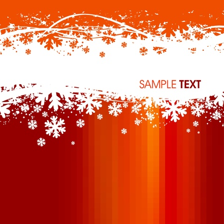 naranja: Fondo de Navidad de vector
