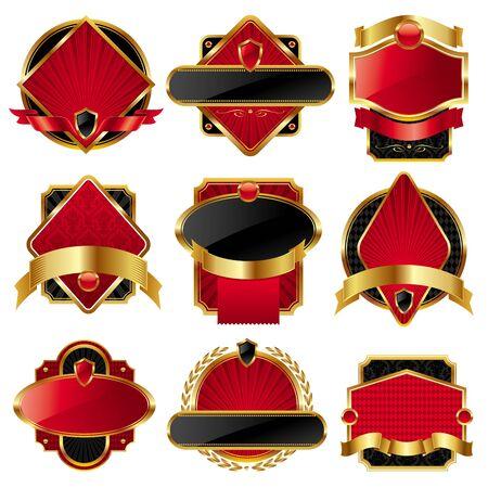 Vector Sammlung von Luxus-Labels