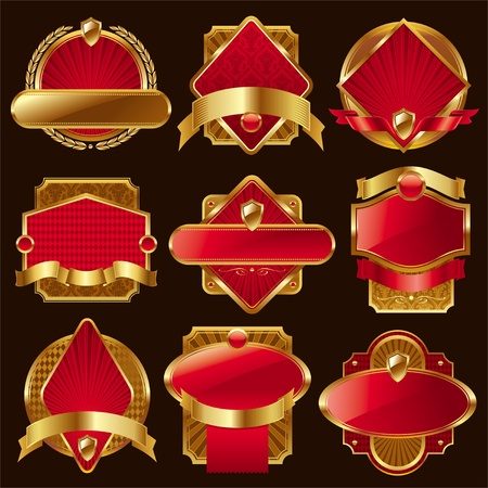 Vector collection of luxury labels Vector