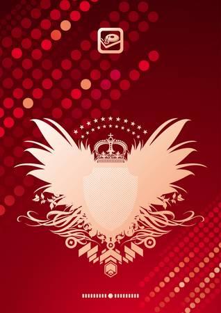 Vektor glitzernden Hintergrund und heraldischen Wappen