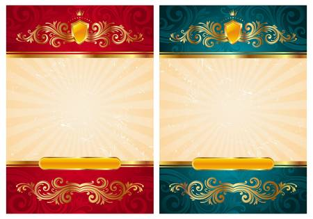 playbill: Vintage vector gold frames