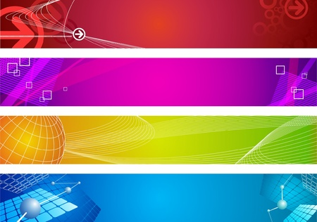 technology banner: Abstract vector web banners Illustration