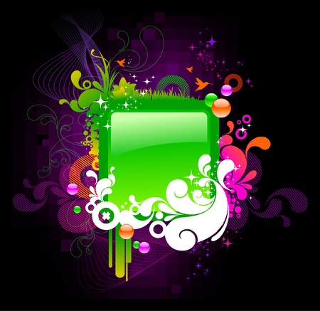 Ornate colorful vector frame Vector