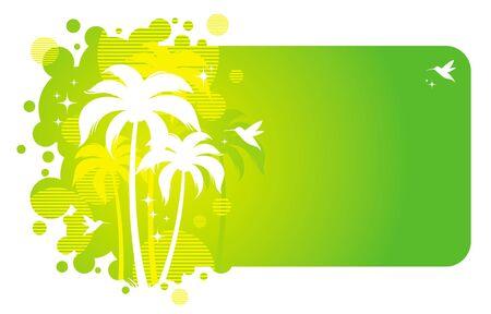Vector frame with tropical design Vector