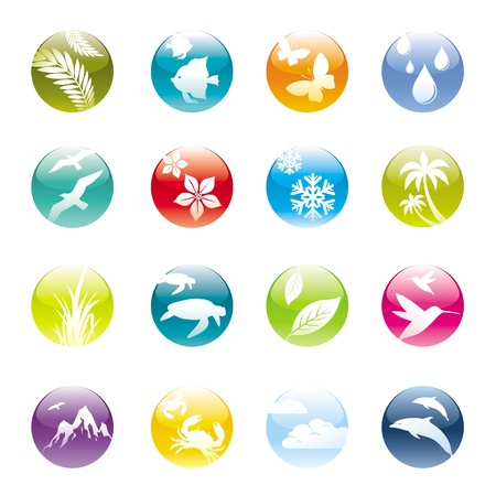 Nature & eco vector icons set Vector