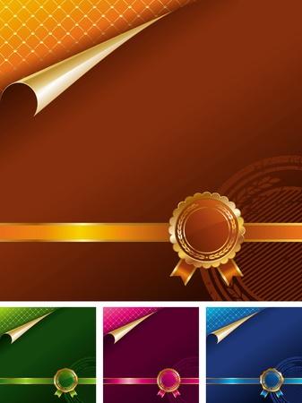 premio cinta: Sello de oro real - ilustraci�n vectorial Vectores